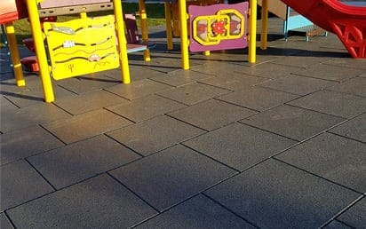 Sterling Surfacing Playground Tiles | Sterling West