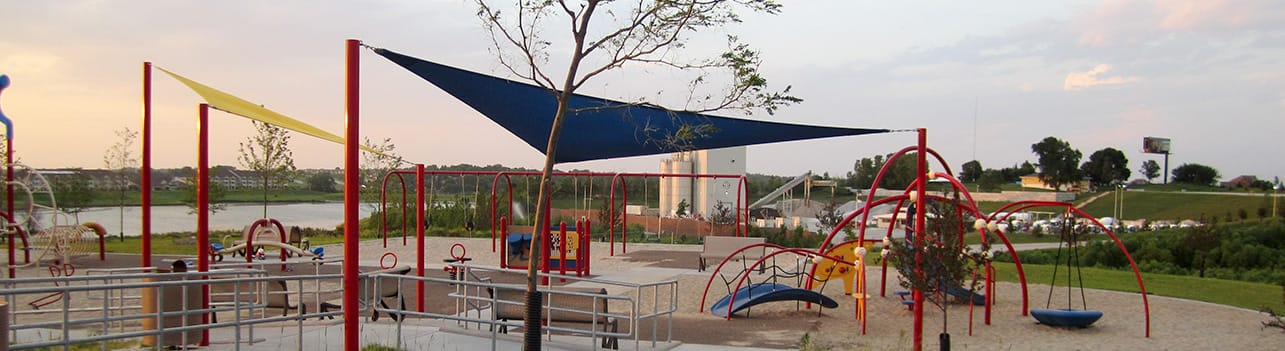 Sterling West Unique Interior Park Equipment Shade Sails | Sterling West