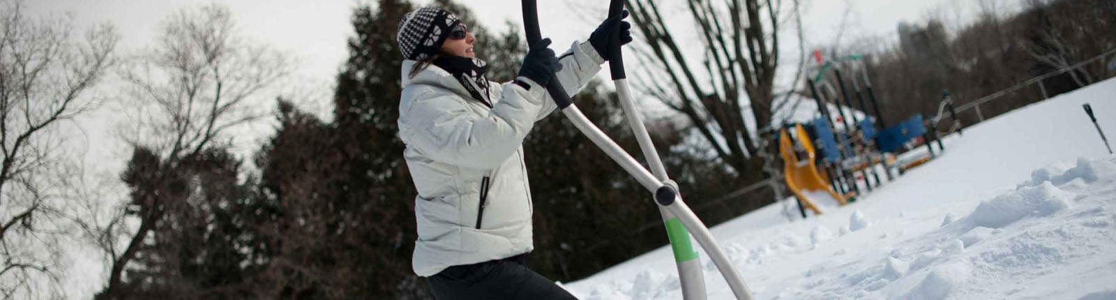 Norwell Person Using Oudoor Exercise Equipment   Sterling West