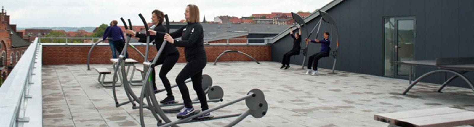 Norwell People Using Outdoor Exercise Equipment   Sterling West