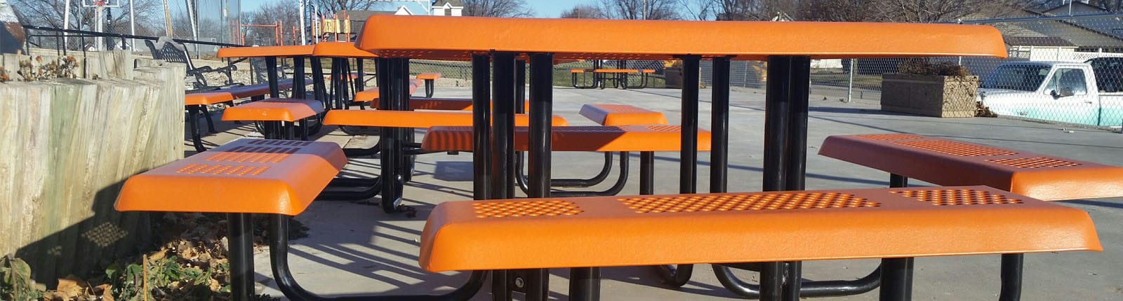 Project Furniture Orangge Park Benches | Sterling West